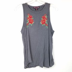 ROCK & ROLL COWGIRL Women's size M Tank Top Floral